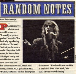 Random Notes Patti Smith