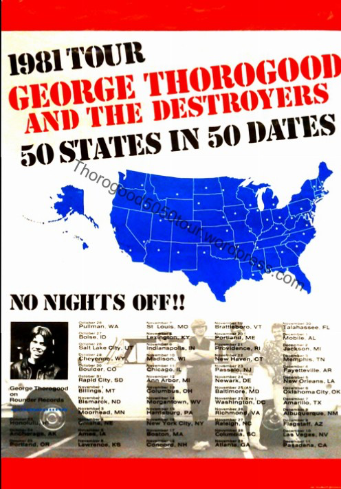Image result for george thorogood 50 50 tour